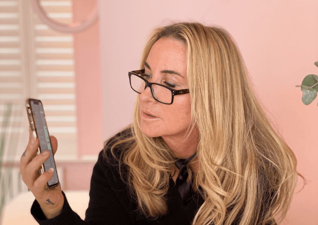 Meg Mathews' new MegsMenopause app.